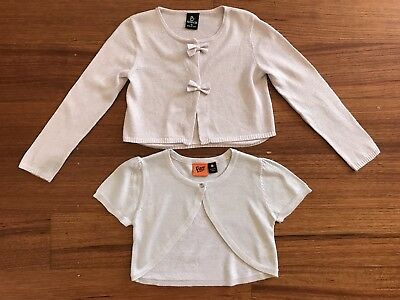 Girls Size 6 Sliver Cardigans Bolero Crop Jacket Fun Spirit Sista