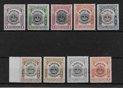 LABUAN SEL.OF MINT FROM 1902/3 SET  SG 117/8, 120a, 121a, 122, 124/5, 127 & 128a