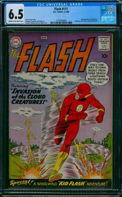 Flash # 111  Invasion of the Cloud Creatures !   CGC 6.5 scarce book !