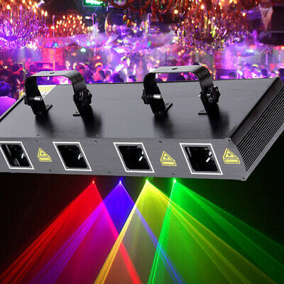460m W4 Lens Beam RGYP Laser Pattern Light Stage Lighting DMX 7CH DJ Bar Party