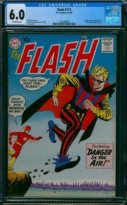 Flash # 113  First appearance of the Trickster !   CGC 6.0 scarce book !