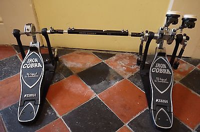 TAMA Iron Cobra Power Glide Double Bass Drum Pedal with original carry case