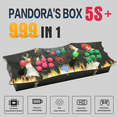 999 Games Pandora's Box 5s+ Arcade Game Console Fight Double Stick Video HDMI
