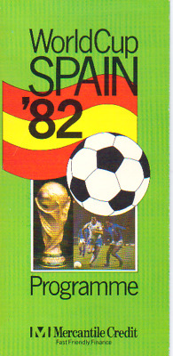 World Cup 1982 - Fixture List By Mercantile Credit