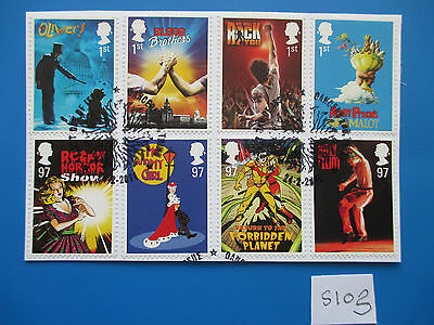 GB 2011 Commemoratives: Musicals - ex fdc,  on piece  #S103