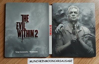 New The Evil Within 2 Steelbook NO GAME PS4 XBox One G2 Size FREE UK P&P
