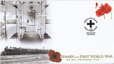 2014 Ambulance Trains of WWI - Buckingham 'Military' Series WWI Cover