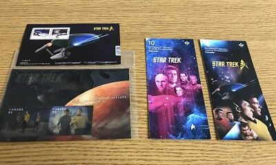 Collection Of Star Trek Canada Stamps