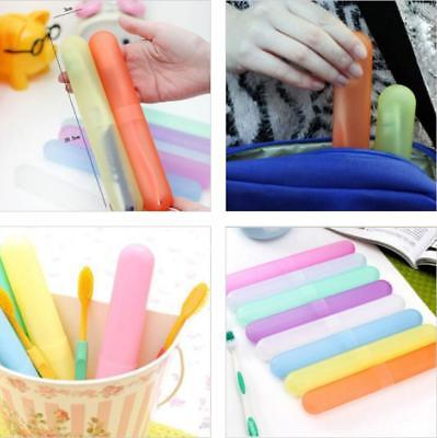 4PC Toothbrush Cover Case Storage Clean Box Holder Camping Tube Brush Cap