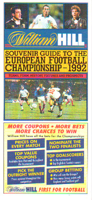 European Championships 1992 - Fixture List By William Hill