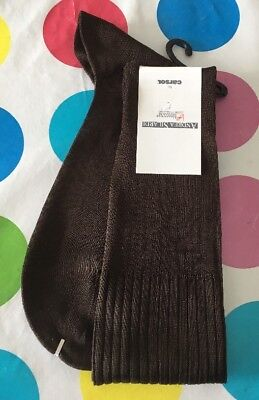 new oldstock mens Vintage Italian 1980s socks In Chocolate Brown Andrea Silardi