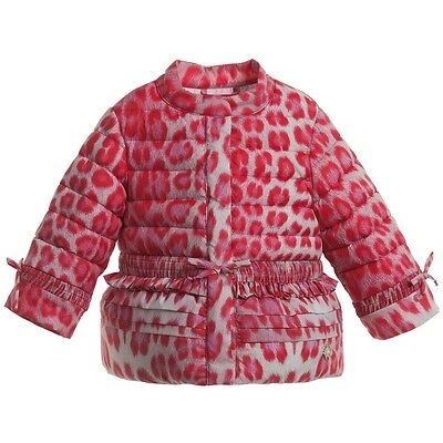Roberto Cavalli Baby Down Padded Pink Leopard Jacket 24 Months