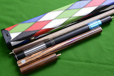 New 3/4 Handmade Ash Snooker / Pool Cue + Extensions + Hard Snooker Cue Case
