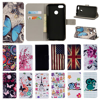 For Huawei Y6 Pro 2017/P9 Lite Mini Flip Stand Painted Wallet Leather Case Cover