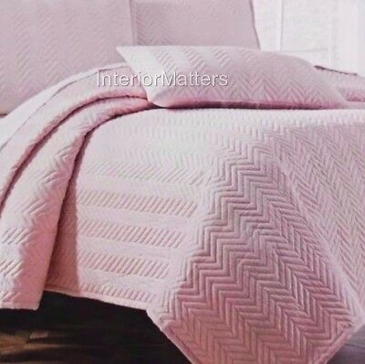 TAHARI KIDS GIRLS Pink Full Queen QUILTED COVERLET QUILT NEW