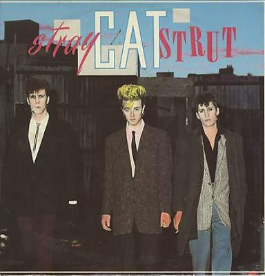 "Stray Cats Stray Cat Strut UK 12"" vinyl single record (Maxi) SCAT123 ARISTA"