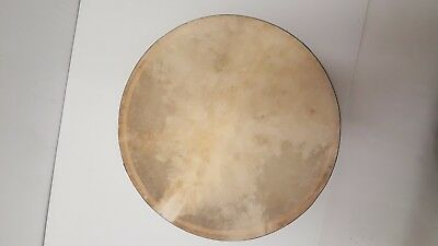 16 inch Single Bar Adjustable Head DRUM Natural Wood with Blue Band DRM16SMW1