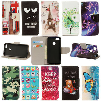 For Huawei P9 Lite Mini/Y6 Pro 2017 Flip Stand Painted Wallet Leather Case Cover