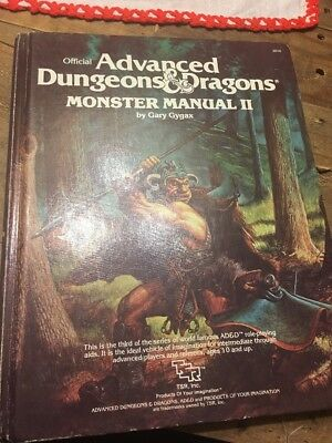 Advanced Dungeons & Dragons Monster Manual II Hardcover TSR #2016