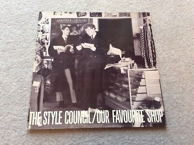 "The Style Council Paul Weller Our favourite Shop 12"" Vinyl LP + Inserts TSCLP 2"