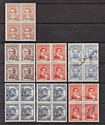 Argentina stamps. Blocks of 4. As scans. Mint (not hinged) and  Very Fine used.