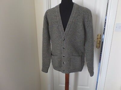 VINTAGE 70'S CARDIGAN.by WOLSEY. PURE NEW WOOL. MOD.SKA. SKINHEAD.SOULBOY.INDIE