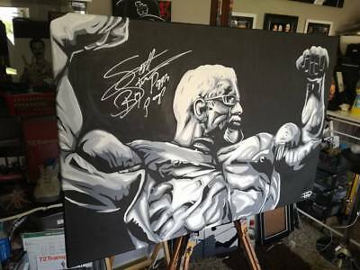 Scott Steiner Signed One Off Painting Pose