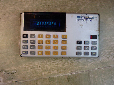 Vintage Sinclair President Calculator