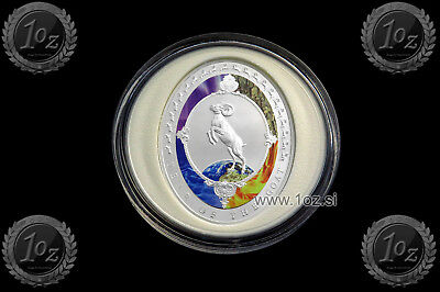 TOKELAU $ 2 DOLLARS 2015 (Year of GOAT) SILVER Commemorative OVAL Coin * PROOF