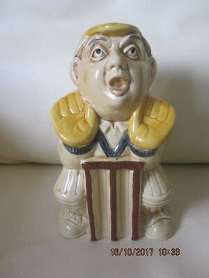 Rare Vintage H J Wood Wicket Keeper Cricketer Sports Series Character Jug