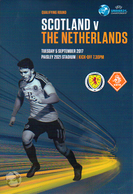SCOTLAND UNDER 21s V NETHERLANDS (HOLLAND) 5/9/2017 UEFA QUALIFIER