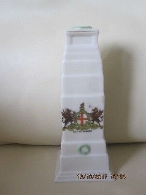Vintage Arcadian Crested China Model Of Cenotaph Whitehall London Armistice Day