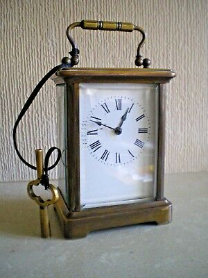 Antique Brass Carriage Clock Working Order