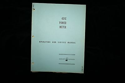 HP 431C Power Meter Operating & Service Manual WITH SCHEMATICS