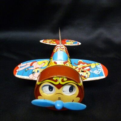 Aoshin Box Friction Tinplate Adventures of the Monkey King Airplane Vintage item