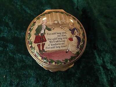 Halcyon Days Enamels Music Box Auld Lang Syne - Rare Piece