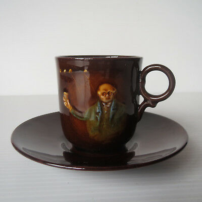 Royal Doulton Kingsware, Dickens, Coffee Cup Saucer, Demitasse Duo