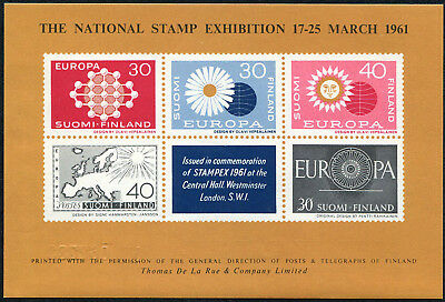 FINLAND 1961 Stampex Exhibition, London, MINI SHEET, MINT Never Hinged