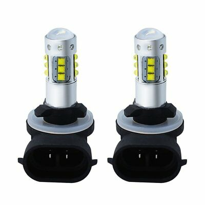 100W LEDs Super White Headlights Bulbs Lamps 2 Pack for Polaris Sportsman/Ranger