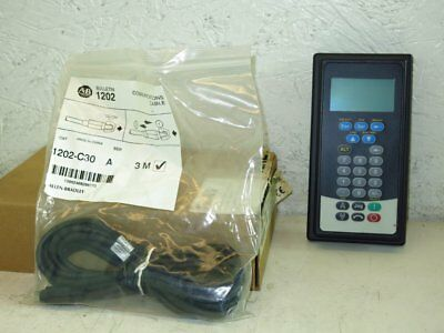 Allen Bradley 20-Him-C3S Remote Full Numeric Lcd, Series A, 1202-C30 Cable