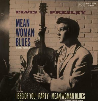"Elvis Presley Mean Woman Blues 12"" vinyl single record (Maxi) UK PT49474 RCA"
