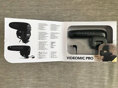 Rode Videomic Pro Camera Microphone DSLR Little Used Perfect Condition in Box