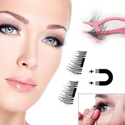 Magnetic 3D Eyelashes Reusable Professional Natural False Eye Lash Extensions