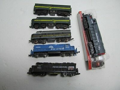 (6) N Gauge Train Engines--Used--For Parts--Not running