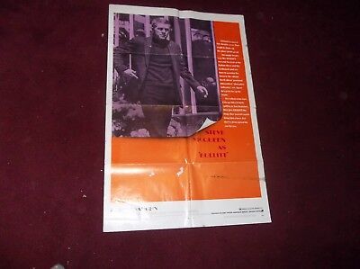 Original Steve Mc Queen Bullitt Movie Poster