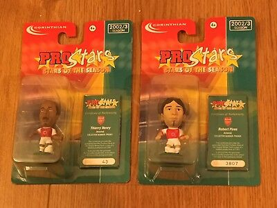 Corinthian Prostars Thierry Henry Robert Pires Arsenal Mint Blister