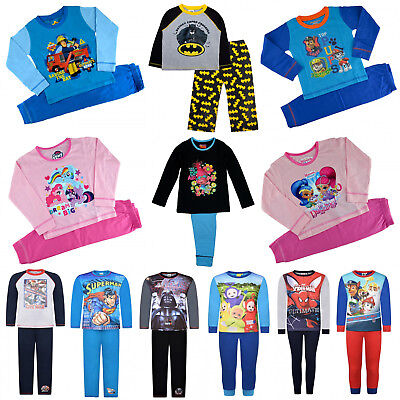 Offcial Kids Characters Disney Marvel Boys Girls 2pcs PJs Sleepwear Pyjamas Set