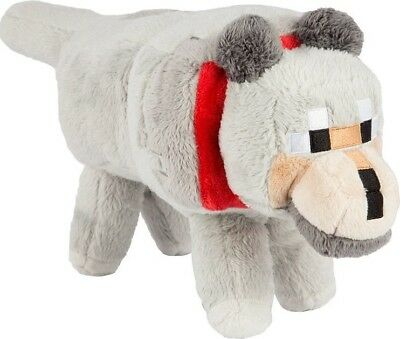 """Minecraft 15"""" Wolf Plush With Hang Tag  - BRAND NEW"""