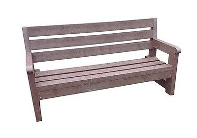 Heavy Duty Country Classic Seat Bench Outdoor 1.8M Brown 100% Recycled Plastic