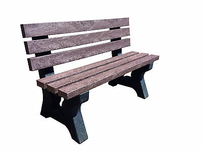 100% Recycled Plastic Garden Park Seat Bench Outdoor 1.4M